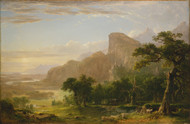 Landscape Scene from Thanatopsis 1850 by Asher B. Durand Framed Print on Canvas