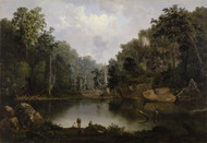 Blue Hole, Flood Waters, Little Miami River by Robert S. Duncanson Framed Print on Canvas