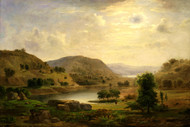 Valley Pasture 1857 by Robert S. Duncanson Framed Print on Canvas