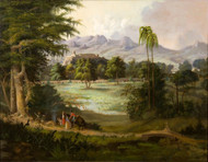 Chapultpec Castle 1860 by Robert S. Duncanson Framed Print on Canvas