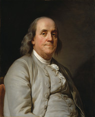 Benjamin Franklin 1785 by Joseph-Siffrein Duplessis Framed Print on Canvas