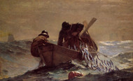The Herring Net by Winslow Homer Framed Print on Canvas