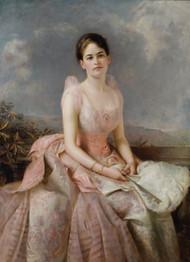 Portrait of Juliette Gordon Low 1887 by Edward Hughes Framed Print on Canvas