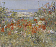 Celia Thaxter's Garden, Isles of Shoals, Maine, 1890 by Childe Hassam Framed Print on Canvas