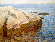 Cliff Rock - Appledore 1903 by Childe Hassam Framed Print on Canvas