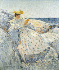 Summer Sunlight (Isles of Shoals) 1892 by Childe Hassam Framed Print on Canvas