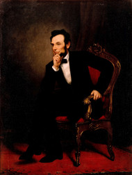 Abraham Lincoln 1869 by George P.A. Healy Framed Print on Canvas