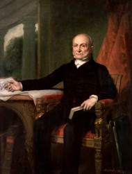 John Quincy Adams 1858 by George P.A. Healy Framed Print on Canvas