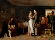 Breaking Home Ties 1890 by Thomas Hovenden Framed Print on Canvas