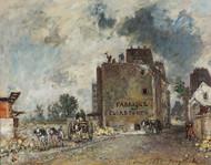 Demolition work in Rue des Franc-Bourgeois St. Marcel 1868 by Johan Barthold Jongkind Framed Print on Canvas