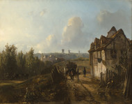 View on Monmartre 1850 by Johan Barthold Jongkind Framed Print on Canvas