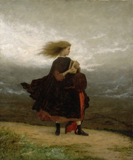 The Girl I Left Behind Me 1870 by Eastman Johnson Framed Print on Canvas