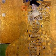 Adele Bloch-Bauer I Portrait by Gustav Klimt Framed Print on Canvas