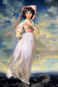 Pinkie by Thomas Lawrence Framed Print on Canvas