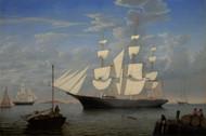 The Ship Starlight in Harbor 1855 by Fitz Hugh Lane Framed Print on Canvas