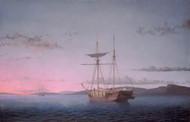 Lumber Schooners at Evening on Penobscot Bay by Fitz Hugh Lane Framed Print on Canvas