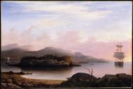 Off Mount Desert Island 1856 by Fitz Hugh Lane Framed Print on Canvas