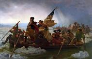 Washington Crossing the Delaware by Emanuel Leutze Framed Print on Canvas