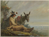 Pierre 1858 by Alfred Jacob Miller Framed Print on Canvas