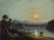 Green River (Oregon) 1858 by Alfred Jacob Miller Framed Print on Canvas