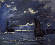 A Seascape, Shipping by Claude Monet Framed Print on Canvas