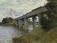 The Railroad bridge in Argenteuil 1873 by Claude Monet Framed Print on Canvas