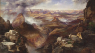 Grand Canyon of the Colorado River by Thomas Moran Framed Print on Canvas