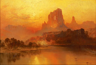 The Golden Hour by Thomas Moran Framed Print on Canvas