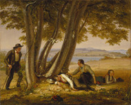 Boys Caught Napping in a Field 1848 by William Sidney Mount Framed Print on Canvas