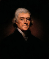 Thomas Jefferson 1800 by Rembrandt Peale Framed Print on Canvas