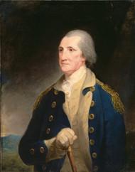 Portrait of George Washington 1785 by Robert Edge Pine Framed Print on Canvas