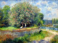 Chestnut in Blossom 1881 by Pierre-Auguste Renoir Framed Print on Canvas