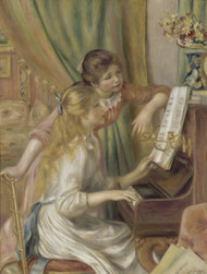Young Girls at the Piano 1892 by Pierre-Auguste Renoir Framed Print on Canvas