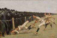 Touchdown, Yale vs. Princeton, Thanksgiving Day, Nov. 27, 1890, Yale 32, Princeton 0 1890 by Frederic Remington Framed Print on Canvas