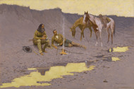 A New Year on the Cimarron 1903 by Frederic Remington Framed Print on Canvas