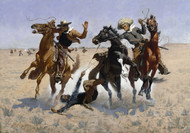 Aiding a Comrade 1890 by Frederic Remington Framed Print on Canvas