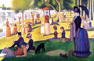 Sunday afternoon on the La Grande Island by Georges Seurat Framed Print on Canvas