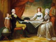 The George Washington Family by Edward Savage Framed Print on Canvas