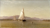 The Hudson at the Tappan Zee 1876 by Francis Augustus Silva Framed Print on Canvas