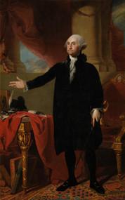 George Washington Standing - The Lansdowne portrait 1797 by Gilbert Stuart Framed Print on Canvas