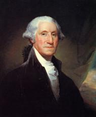 George Washington by Gilbert Stuart Framed Print on Canvas