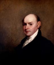 John Quincy Adams 1818 by Gilbert Stuart Framed Print on Canvas