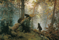 Morning in a Pine Forest 1889 by Ivan Shishkin Framed Print on Canvas