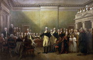 General George Washington Resigning His Commission by John Trumbull Framed Print on Canvas