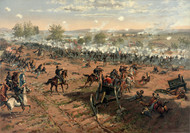 Hancock at Gettysburg - Battle of Gettysburg by Thure de Thulstrup Framed Print on Canvas