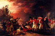 The Sortie Made by John Trumbull Framed Print on Canvas