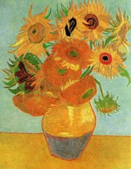 Still Life Vase with Twelve Sunflowers by Vincent van Gogh Framed Print on Canvas