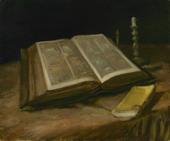 Still life with Bible by Vincent van Gogh Framed Print on Canvas