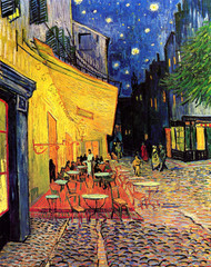 The Cafe Terrace on the Place du Forum, Arles, at Night by Vincent van Gogh Framed Print on Canvas
