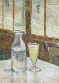 Cafe table with absinth 1887 by Vincent van Gogh Framed Print on Canvas